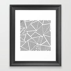 Ab Linear Zoom W Framed Art Print