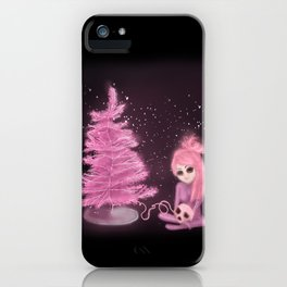 Intercosmic Christmas in Pink iPhone Case