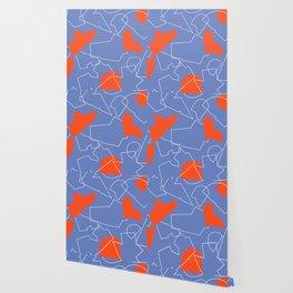 Folded red & blue Wallpaper