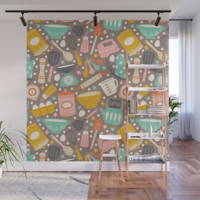 In The Kitchen Wall Mural By Allisonromerodesign Society6