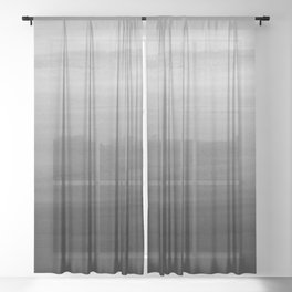 Touching Black Gray White Watercolor Abstract #1 #painting #decor #art #society6 Sheer Curtain