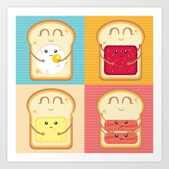 Love your Breakfast Art Print