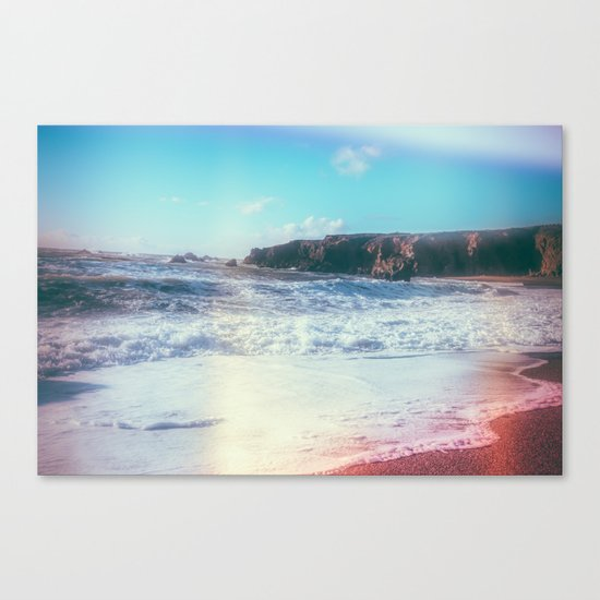California Sunshine Waves Canvas Print