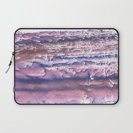 Rosy blue streaked watercolor painting Laptop Sleeve