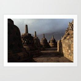 borobodur buddhist temple 3 Art Print