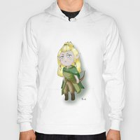 chibi Hoodies featuring Chibi Legolas by Miss No!