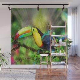 Toucan watercolor Wall Mural