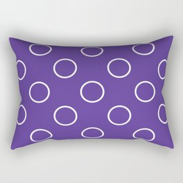 Geometric Orbital Candy Dot Circles Rectangular Pillow