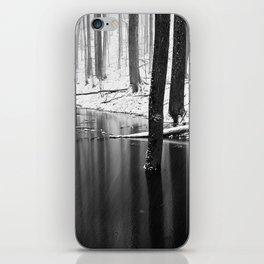 Snowing on water iPhone Skin