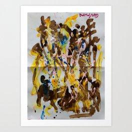 Abstract casting motive I Art Print