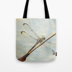 Libellule -- Dragonfly Seems Curious Tote Bag