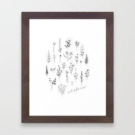 Wildflowers II Framed Art Print