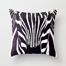 Zebra Painting  Throw Pillow