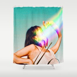 Not all Rainbows are good, Vintage, Summer, Sea, Beach, Sunrise Shower Curtain