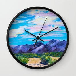 Desert Sky Wall Clock