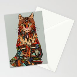 maine coon cat mercury Stationery Cards