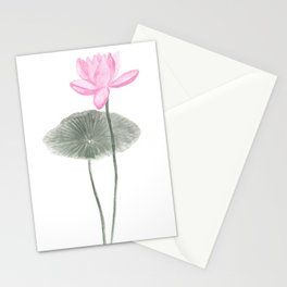 Pink lotus print Stationery Cards