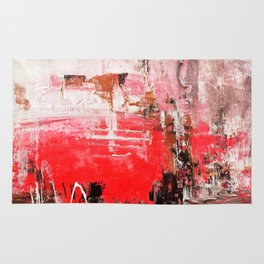 Pink sunset abstract Rug