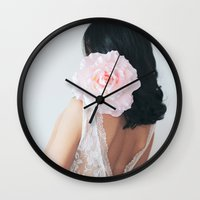 pastel Wall Clocks featuring Pastel by Jovana Rikalo