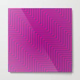 Pink & Purple ZigZag Metal Print