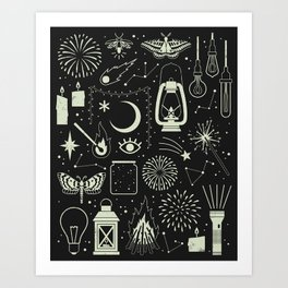 Light the Way: Glow Art Print