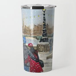 Walking in the Snow Travel Mug