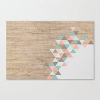 pastel Canvas Prints featuring Archiwoo by Marta Li
