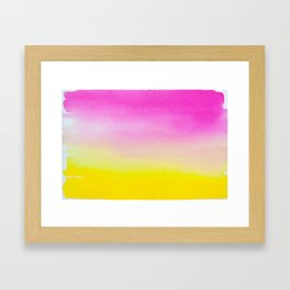 Abstract painting in modern fresh colors Framed Art Print