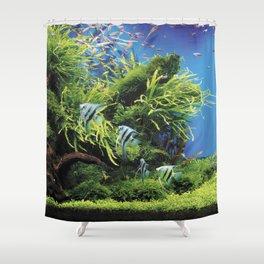 Freshwater Angelfish aquarium Shower Curtain