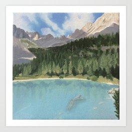 Lake Sorapis Art Print