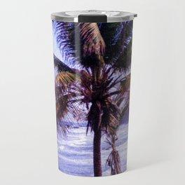 Original Black Sand Beaches and Palm trees Travel Mug