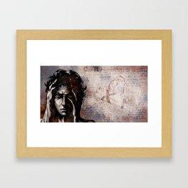 """""""CH"""" Cluster Headache Framed Art Print"""