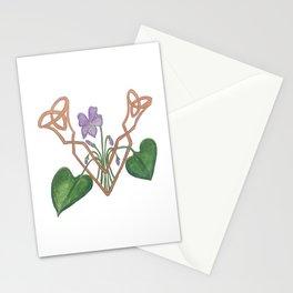 V is for Violet Stationery Cards