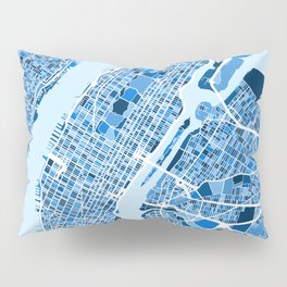 New York City Street Map Pillow Sham