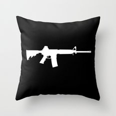 AR-15 (on black) Throw Pillow