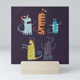 Secretly Vegetarian Monsters Mini Art Print