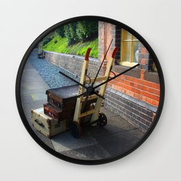 Waiting For The Train Wall Clock