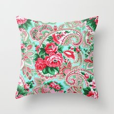 Floral Paisley Pattern 01 Throw Pillow