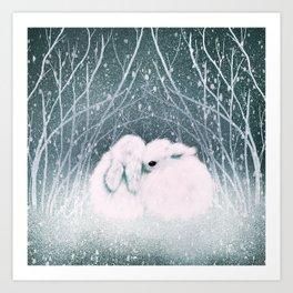 Baby Bun Buns Art Print