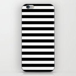 Modern Black White Stripes Monochrome Pattern iPhone Skin