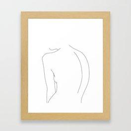Minimal line drawing of women's body - Alex Gerahmter Kunstdruck