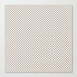Warm Taupe Polka Dots Canvas Print