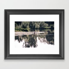 Lake Somewhere Framed Art Print