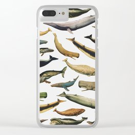 Color Whales Clear iPhone Case