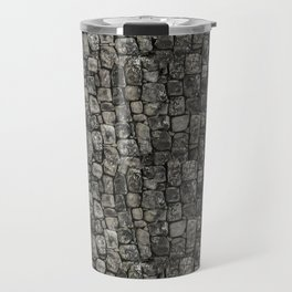 Ancient Stone Wall Patterndesign, pattern, stone, rock, archaeological, pre-columbian, medieval, pat Travel Mug
