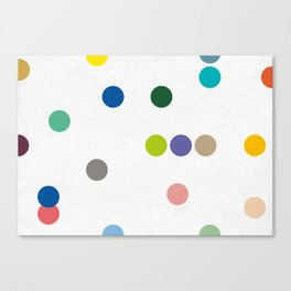 colourful pokka Canvas Print