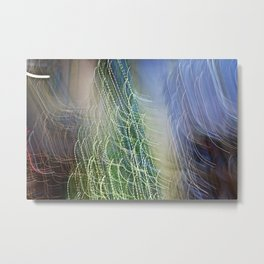 Abstract Lit Xmas Tree1 Metal Print