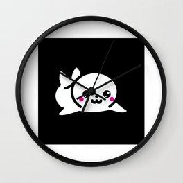 Kawaii Sea Seal Gift Idea Design Motif Wall Clock