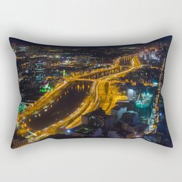 Ho Chi Minh By Night Rectangular Pillow