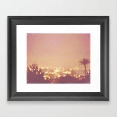 Summer Nights. Los Angeles at night photograph. Framed Art Print
